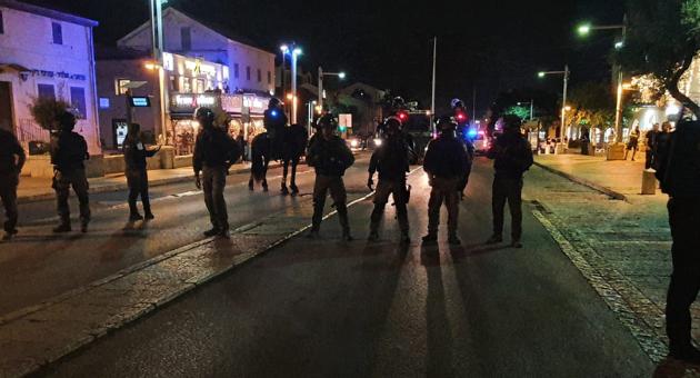 שוטרים במושבה הגרמנית