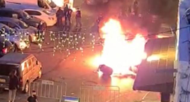 שריפת פחים בואדי ניסנאס