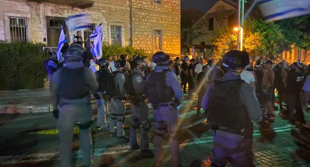 כוחות משטרה בשדרות בן גוריון