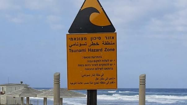 שלט אזהרה מפני צונאמי