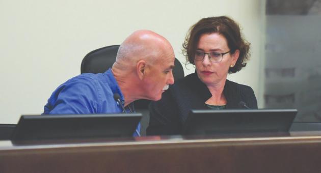 ראש העיר עינת קליש רותם וסגנה נחשון צוק